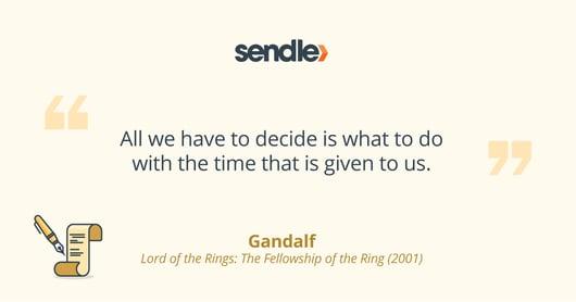 Motivational Gandalf quote