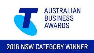 Telstra Australian Business Award, 2016 NSW Category Winner