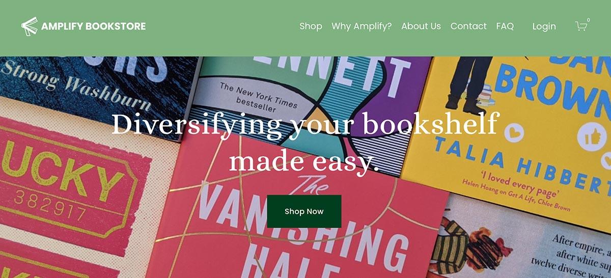 Ampilfy bookstore website