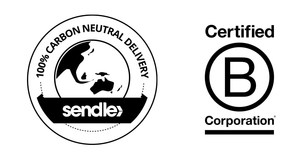 100% Carbon Neutral Delivery and B Corp Logo