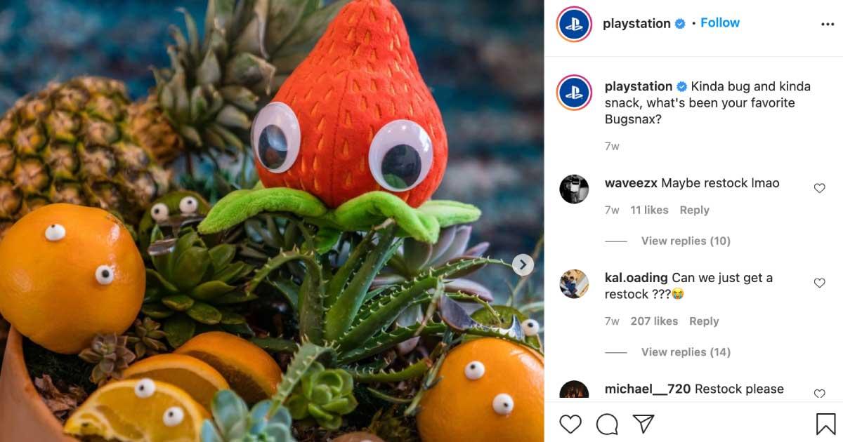IG captions Playstation ask questions