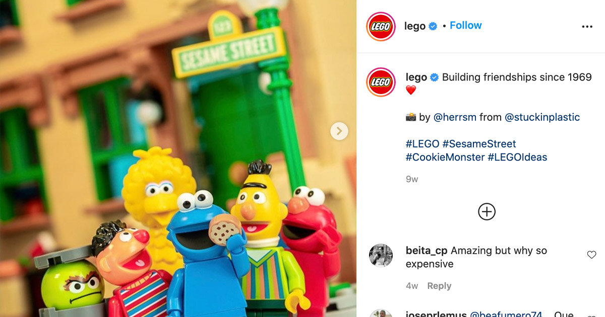 Lego short Instagram captions