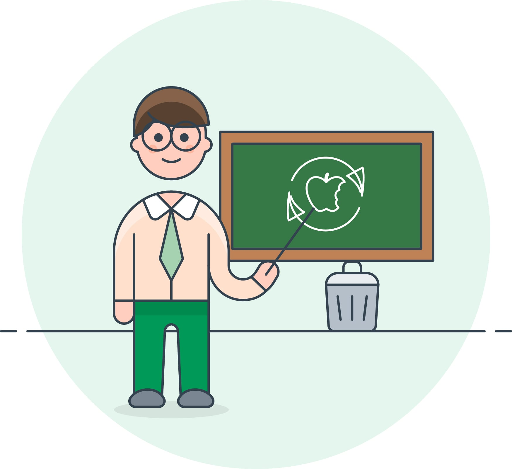 Compostable teacher