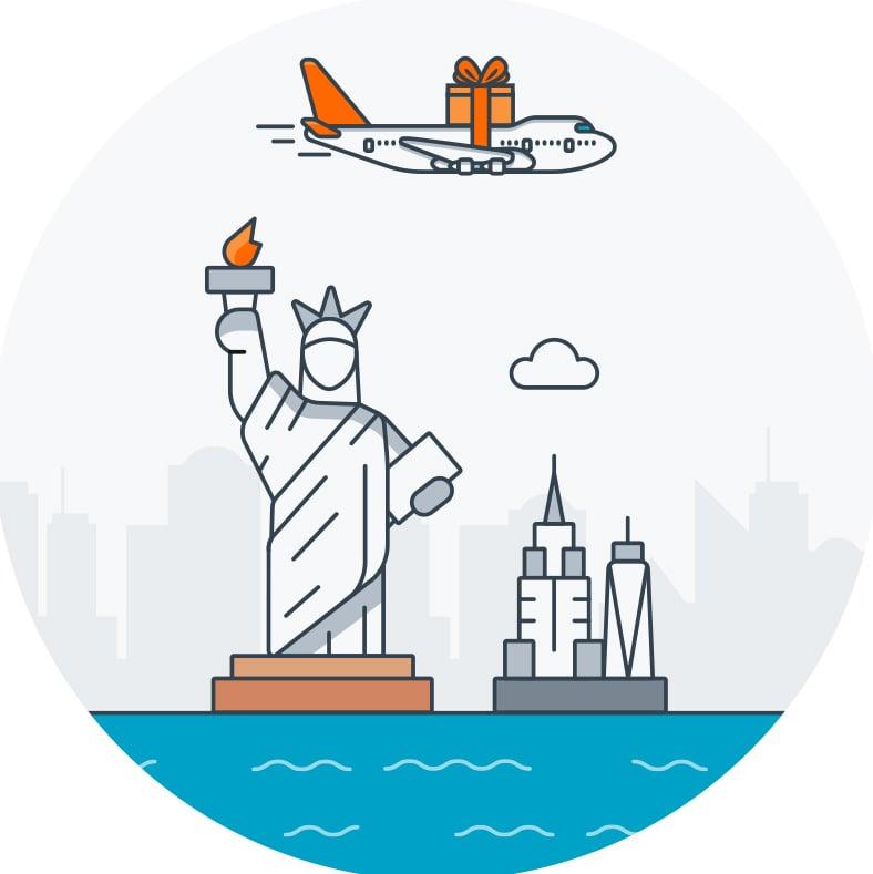 International shipping option