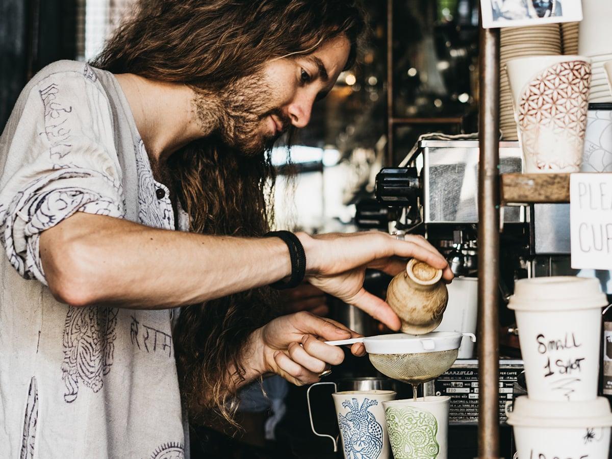 Mushroom coffee.